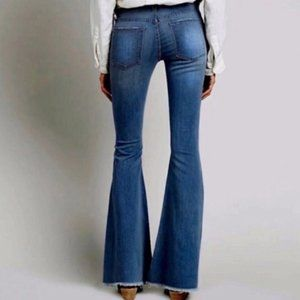 NWT Alexa Chung for AG Frayed Bell Bottoms Sz 26